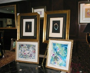 Zoe Mac and Erte showing at art auction